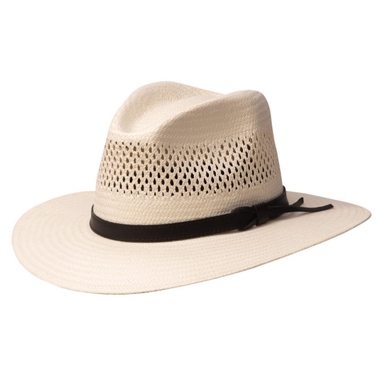bff0f679 Stetson - Digger Shantung Straw Outback Hat