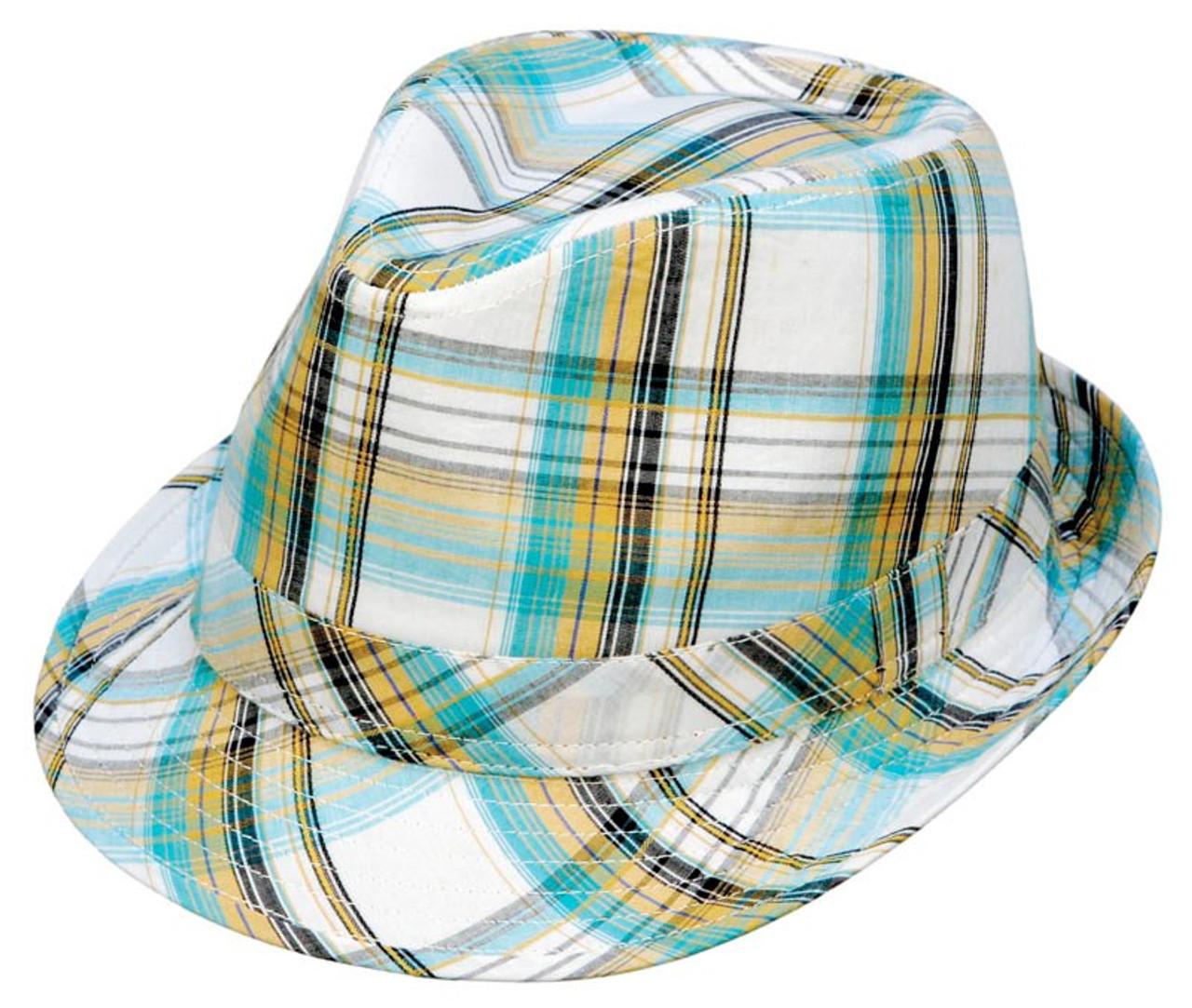 1b6dec1e296c2 Kenny K. Kenny K - Summer Plaid Fedora Hat