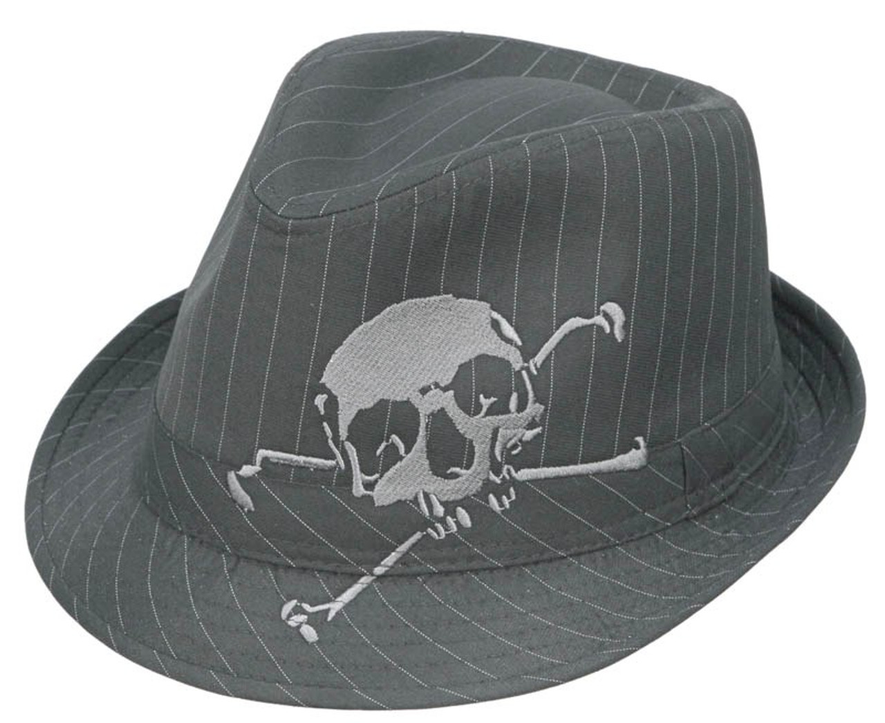 80e7d8380 Kenny K - Skull Embroidered Fedora Hat