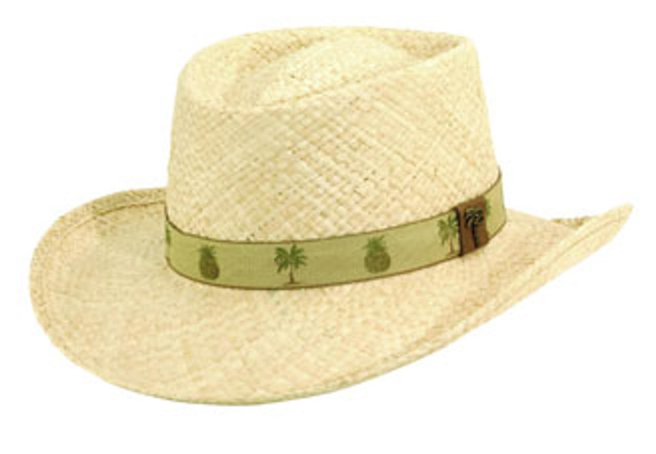 6df3f3b7fed52 Scala. Scala - Palm Pineapple Raffia Gambler Hat