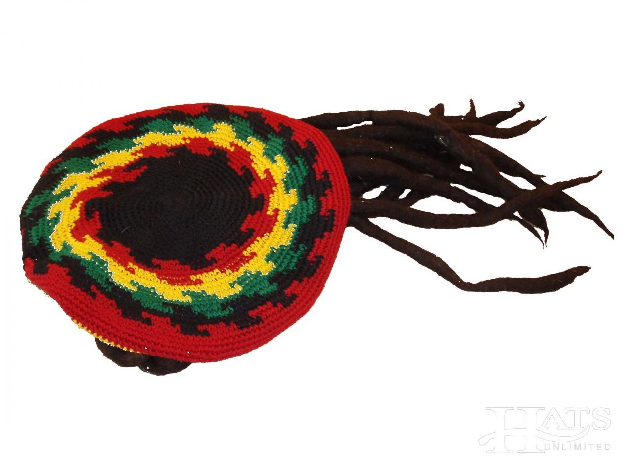 c4eea7e92 Adventure Trading - Rasta Tam Hat With Dreads