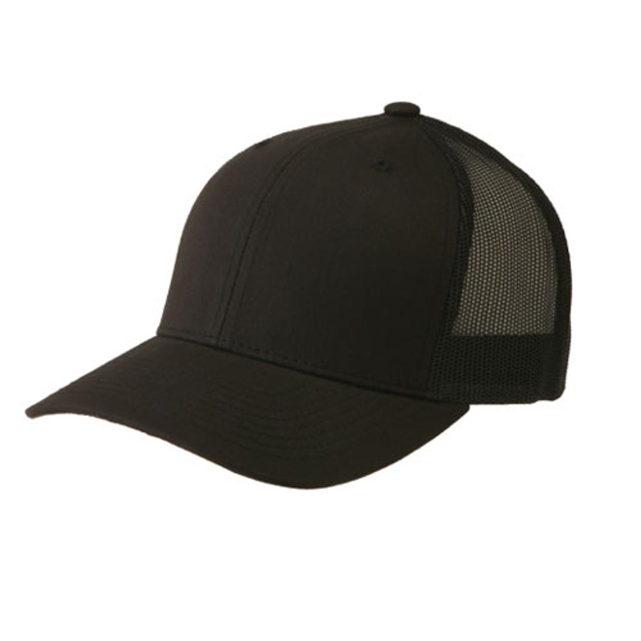 a4e66bf81356f Flexfit Hats. Flexfit - Black Retro Snapback Trucker Cap