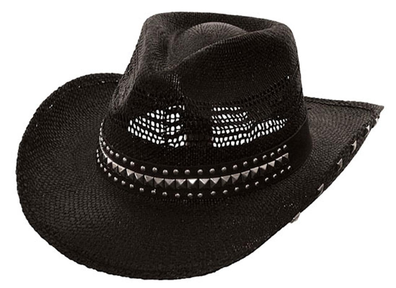 b86acf29d Kenny K - Black Studded Cowboy Hat