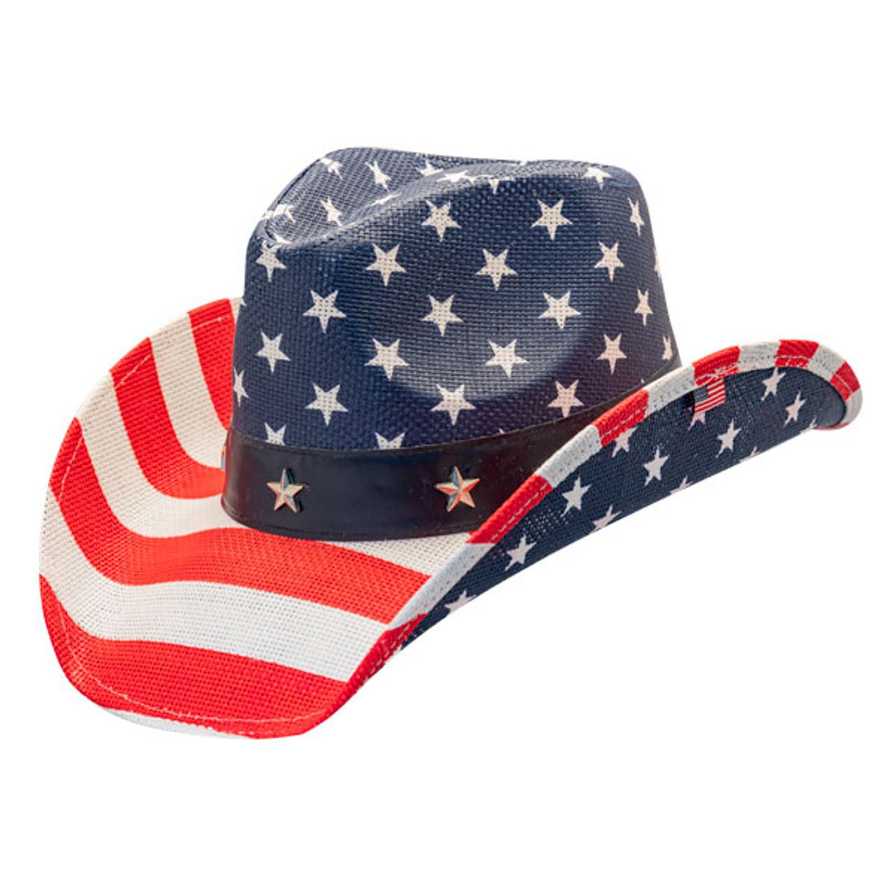 7579c8b0 California Hat Company | American Flag Cowboy Hat | Hats Unlimited