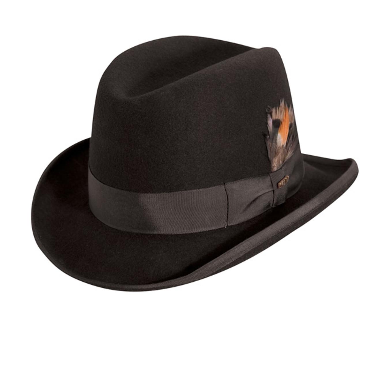57daf99d764 Scala. Scala - Homburg Wool Felt Godfather Hat