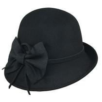 595fad96387 Jeanne Simmons - Wool Felt Cloche Hat Black