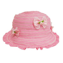 9c997a15c70 Boardwalk Style - Child s Ruffle Sun Hat with Bows Pink