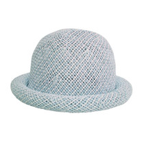 Boardwalk Style Kids Straw Roller Hat in Blue - Full View 3a5d35b7c0b0