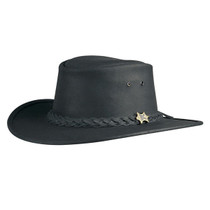 Compare. Conner Bush Walker Oily Hat in Black - Full View 1bd25dca4597
