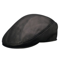 Stetson - Distressed Leather Ivy Cap in Black 37097083e36