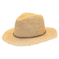 d709c363168665 Sun 'N' Sand - Raffia Wide Brim Fedora Hat Natural -