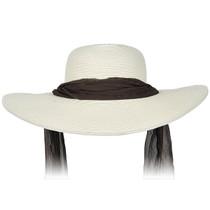 de2326b4 Karen Keith - Wide Brim Designer Resort Hat With Tie in Ivory · Choose  Options. Kenny K