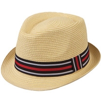 64eb5221760 Kenny K - Two Tone Band Toyo Fedora Hat