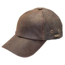 Stetson - Bray 6-Panel Distressed Leather Baseball Cap 5c2c07dfbcd