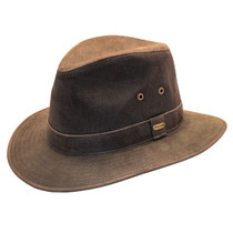 Stetson - Tullamore Distressed Leather Safari Hat - 22644a9530c
