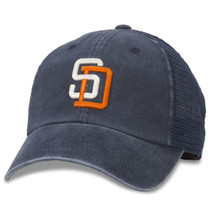 976e3a99147 American Needle - San Diego Padres Distress Mesh Baseball Cap