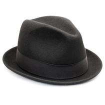 Deevoov Mens Wool Felt Fedora Outback Short Brim Trilby Hat Gangsta