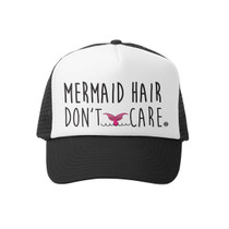 0b4ba6c575d39 Grom Squad - Mermaid Hair Don t Care Little Girl Trucker Hat