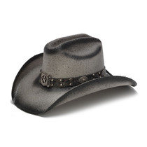 Stampede Hats - Black Longhorn Cowboy Hat - Front Angle 741dbc7e12b0