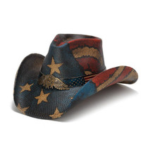 Stampede Hats - Vintage Winged USA Hat - Front Angle 9899e0835bae