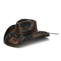 3528c89f5b0 Stampede Hats - Studded Black Stain Lone Star Western Hat - Front Angle