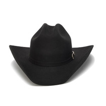 77fd69032a434 Stampede Hats - 100X Wool Felt Black Cowboy Hat with Silver Buckle - Front  Angle · Choose Options