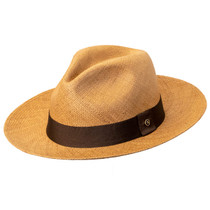 50b5380762d Austral Hats - Light Brown Panama Hat with Brown Band