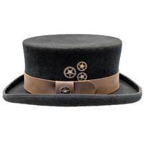 2c6dbe4d136 Conner - Low Crown Steam Punk Top Hat in Black · Choose Options