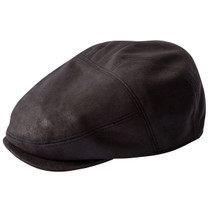 Henschel - Faux Leather New Shape Ivy Cap in Rust. Choose Options da1089bd64db