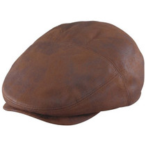 Henschel - Faux Leather New Shape Ivy Cap in Rust c1db80cc0ca0
