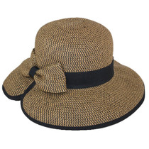 Jeanne Simmons - Brown Tweed Split Brim 88daa264435b