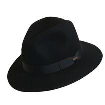 fe483b772f237 Scala - Black Crushable Wool Felt Safari Hat