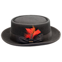 23d181fc3247b Scala - Jazz Porkpie Wool Felt Hat