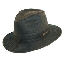 191a20cda83 Dorfman Pacific - Indiana Jones Weathered Cotton Fedora Hat