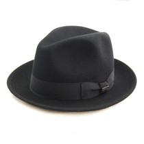 22d0117180e Bigalli - Black Milano Wool Felt Hat