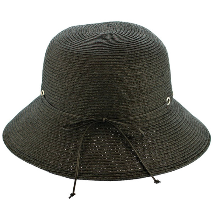 56e26da7d06de Kenny K. Karen Keith - Black Braided Cloche Hat