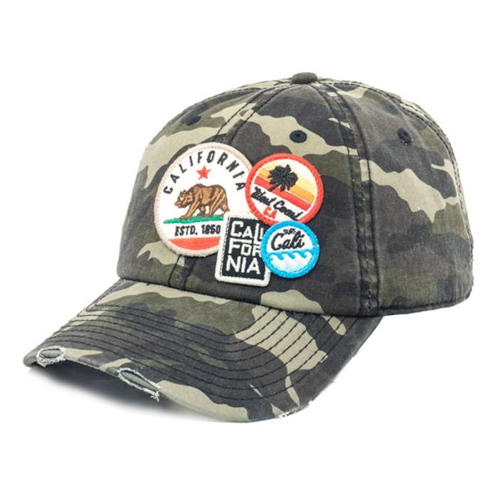 080eae4a69d5c American Needle - Cali Bear Distressed Patch Cap in Camo -