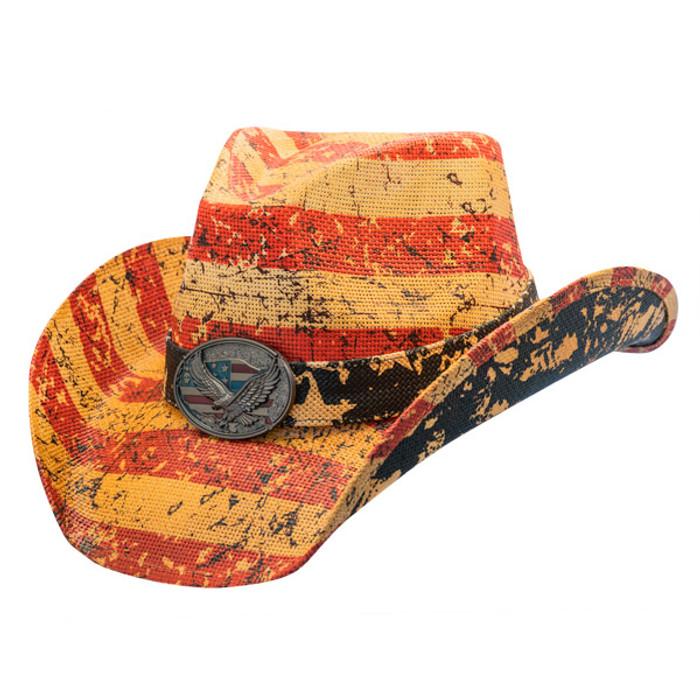 c12d0077a3988 California Hat Company - Liberty American Flag Cowboy Hat -