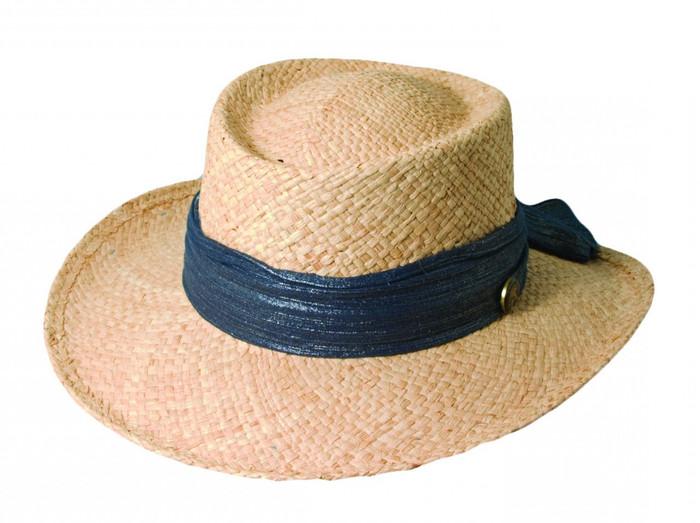 f21d8050ab588 Scala - Women s Raffia Gambler Hat Navy