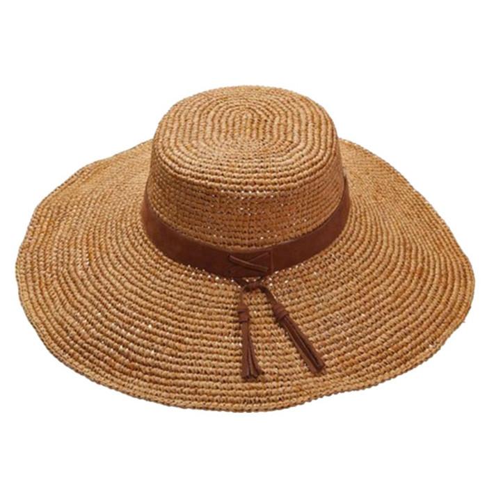 b7369335 Scala | Raffia Crochet Boater Hat | Hats Unlimited