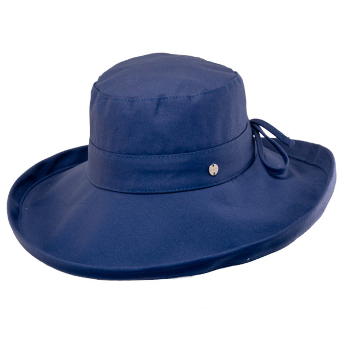 Kooringal - Noosa Cotton Canvas Upturn Brim Hat Navy 69da5b93535