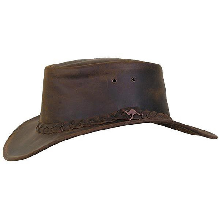 1fd69a1ed9a Kakadu Hats - Nullarbor Leather Hat