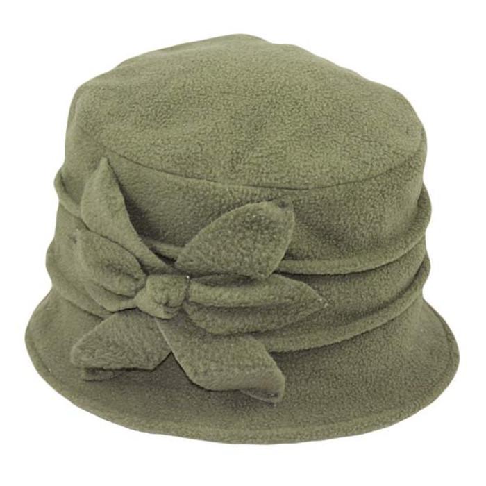 87c3d53037d Jeanne Simmons - Fleece Cloche Hat Olive