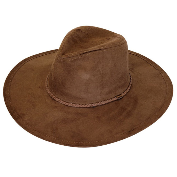 19d76a5e909 Downtown Style - Brown Faux Suede Fedora