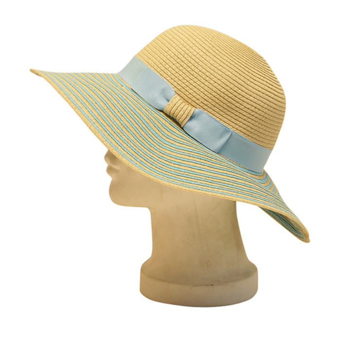 1ba9c709 Boardwalk Style | Straw Sun Hat With Striped Brim | Hat Unlimited