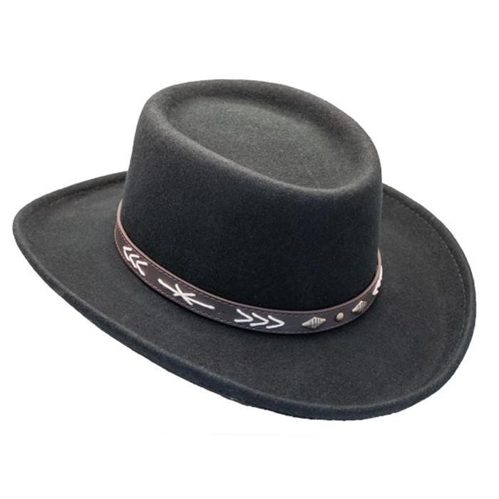 Conner - Wool Felt Arizona Gambler Hat