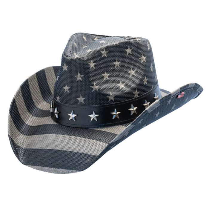 127b9683b California Hat Company - Freedom Star American Flag Cowboy Hat