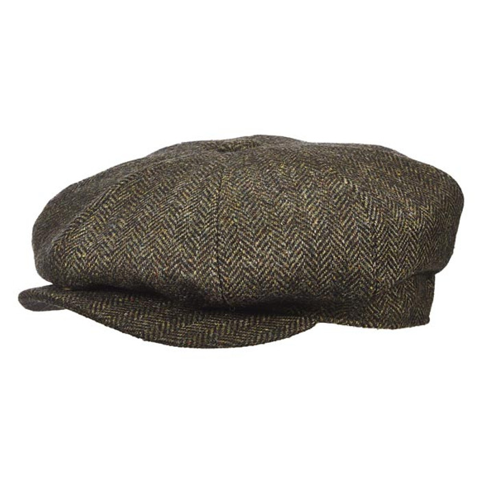 c269043a303 Stetson - Herringbone Cap in Loden - Full View