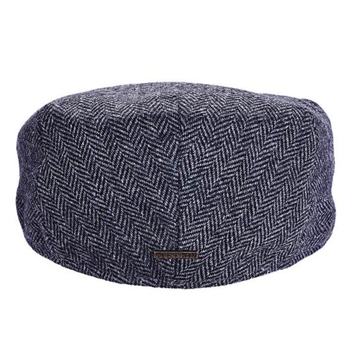2379289f47f Stetson - Herringbone Ivy Cap in Grey - Back View