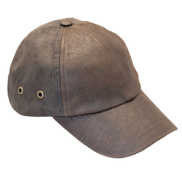 bf439b9d Stetson - Bray 6-Panel Distressed Leather Baseball Cap - Opposite Side